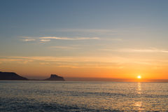 Costa Blanca sunrise landscape Stock Photos