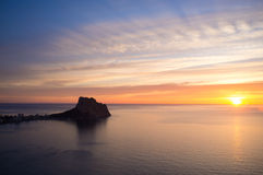 Costa Blanca sunrise Royalty Free Stock Photography