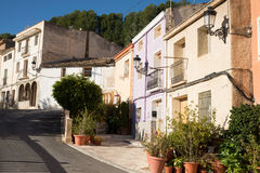 Costa Blanca village Royalty Free Stock Photo