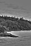 Costa blanco y negro Foto de archivo