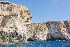 Costa blu della grotta Fotografia Stock Libera da Diritti