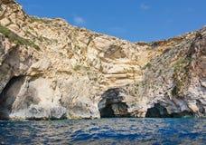 Costa blu della grotta Immagine Stock
