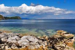 Costa bonita de Antrim perto de Larne Foto de Stock