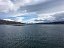 A costa bonita de Helgeland no condado de Nordland, Noruega Imagem de Stock