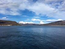 A costa bonita de Helgeland no condado de Nordland, Noruega Fotos de Stock