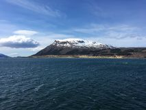 A costa bonita de Helgeland no condado de Nordland, Noruega Fotografia de Stock