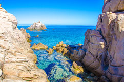 Costa bonita do granito de sardinia Imagem de Stock Royalty Free
