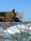 Costa bonita do mar de Azov foto de stock