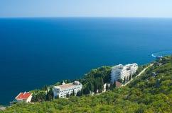Costa bonita do recurso do Mar Negro Fotografia de Stock