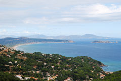 Costa Brava. Aerial view of Brava Coast from Begur (Spain Stock Image