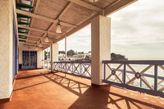 Costa Brava balcony Royalty Free Stock Photography