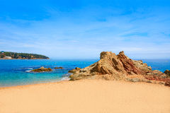 Costa Brava beach Lloret de Mar Catalonia Spain Royalty Free Stock Photo