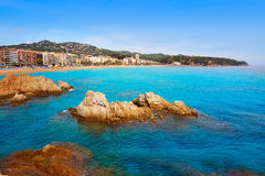 Costa Brava beach Lloret de Mar Catalonia Spain Stock Image