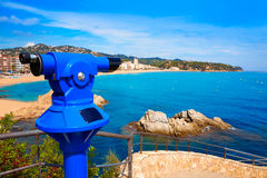 Costa Brava beach Lloret de Mar Catalonia Spain Stock Photography