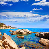 Costa Brava beach Lloret de Mar Catalonia Spain Royalty Free Stock Image
