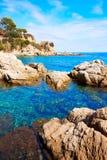 Costa Brava beach Lloret de Mar Catalonia Spain Stock Images
