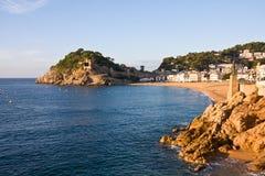 Costa Brava, beach and medieval castle in Tossa de Mar, Cataloni Royalty Free Stock Photos