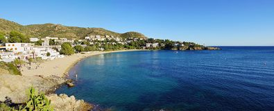 Costa Brava beach panorama Royalty Free Stock Photos