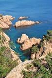 Costa Brava beach in Spain Stock Image