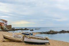 Costa Brava - Boten Stock Afbeelding