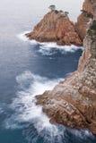 Costa Brava cliff Stock Photography