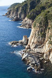 Costa Brava cliff Stock Photo
