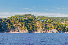 Costa Brava Cliffs in Catalonia, Spain Royalty Free Stock Photo
