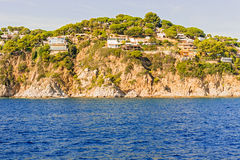 Costa Brava Cliffs in Catalonia, Spain Royalty Free Stock Images