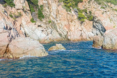 Costa Brava Cliffs in Catalonia Spain Royalty Free Stock Image