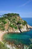Costa brava coast near tossa de mar Royalty Free Stock Photo