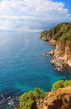 Costa Brava Coast near Tossa de Mar Stock Photo