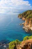 Costa Brava Coast near Tossa de Mar Stock Photo