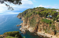 Costa Brava Coast near Tossa de Mar, Spain Royalty Free Stock Photo