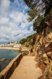 Costa Brava Coastal Path In Spanje royalty-vrije stock foto