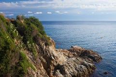 Costa Brava Coastline en España Fotografía de archivo libre de regalías