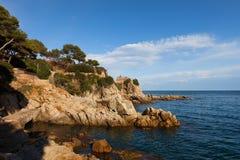 Costa Brava Coastline in Lloret de Mar Royalty Free Stock Images