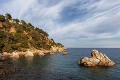 Costa Brava Coastline in Spain Royalty Free Stock Photo