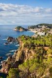 Costa Brava Coastline in Spain Stock Image