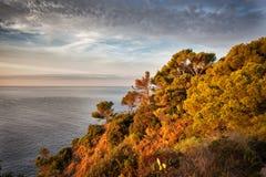 Costa Brava Coastline in Spain at Sunrise Stock Photos