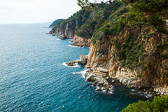 Costa Brava coastline stock images