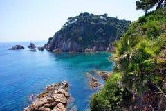 Costa Brava krajobraz. Blanes, Catalonia, Hiszpania Obraz Royalty Free