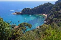 Costa Brava-kustlijn stock foto
