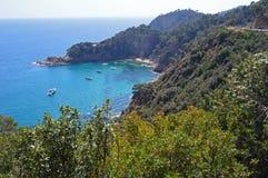 Costa Brava-kustlijn stock afbeeldingen