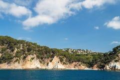 Costa Brava landscape bank of sea Stock Image