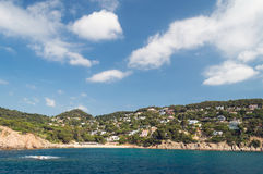 Costa Brava landscape bank of sea Royalty Free Stock Photos