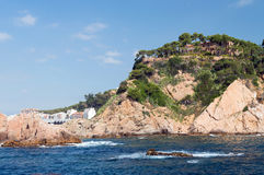 Costa Brava landscape bank of sea Royalty Free Stock Image