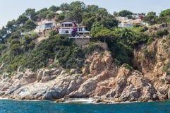 Costa Brava landscape bank of sea Royalty Free Stock Photo