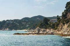 Costa Brava landscape bank of sea Stock Photography