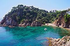 Costa Brava landscape. Blanes, Catalonia, Spain Royalty Free Stock Image