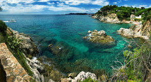 Costa Brava landscape near Lloret de Mar, Spain. Stock Photos